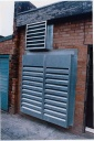 Plant Room  - Acoustic louvres and fan silencer