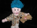 "Bedtime doll - 18"" doll blue hair"