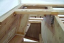 knee - the knee was glued and bolted to the transom and keel