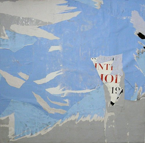 Thétys (Ulysses' travel) - 100 x 100 cm - January 2010 - Torn posters on canvas