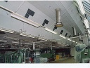 Production hall - Acoustic ceiling for noise reduction