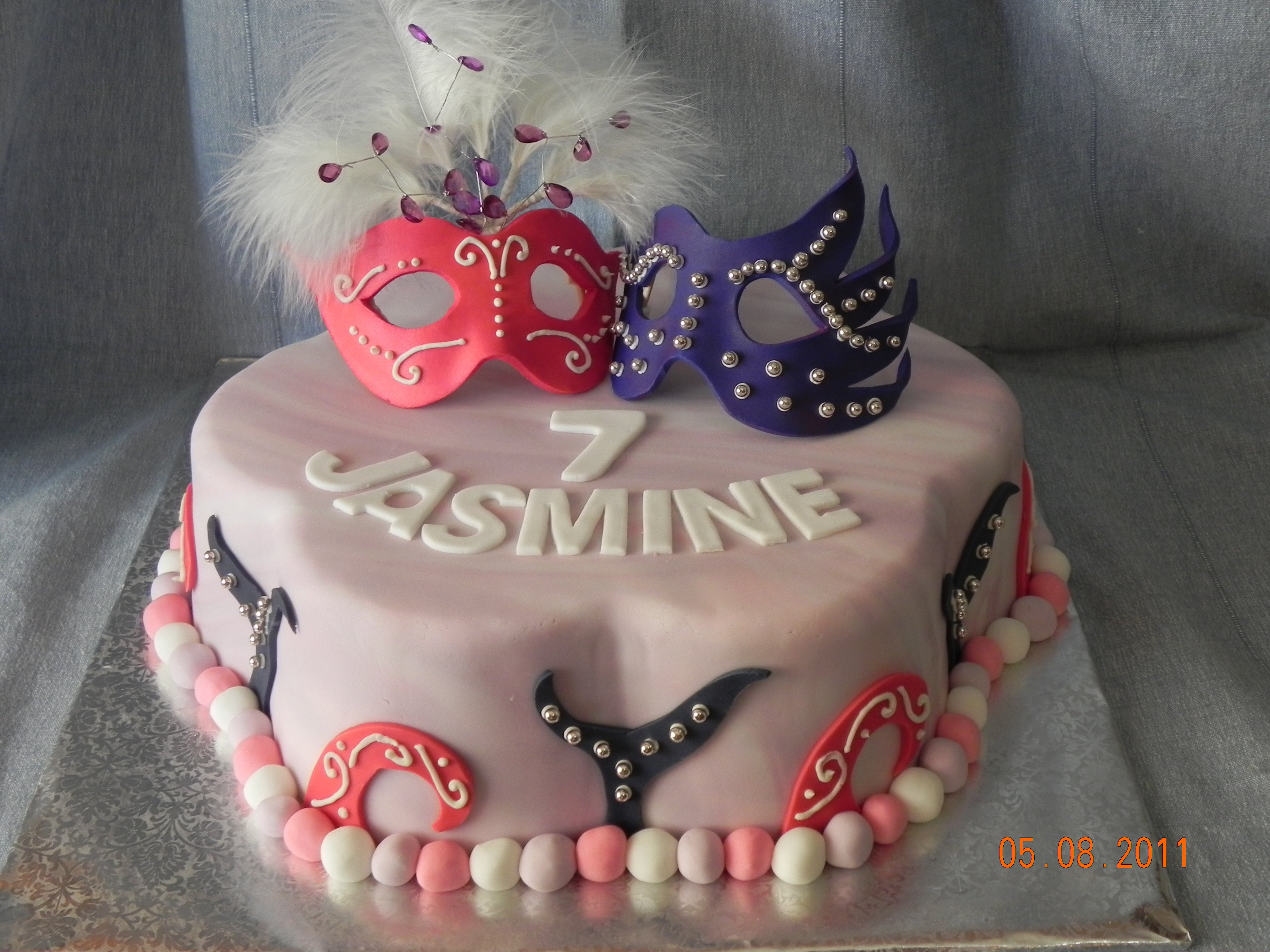Masquerade Birthday Cake Designs Gallery Birthday Cake With Candles