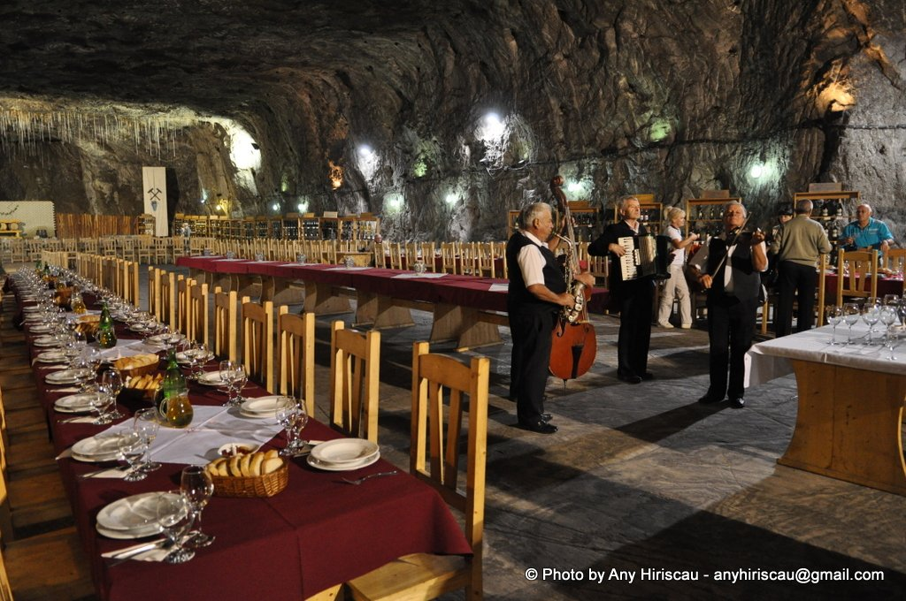 21. Salt Mine Praid. Underground Restaurant with  exhibition of Romanian wines. Dinner for Symposium participant who visited the salt mine .